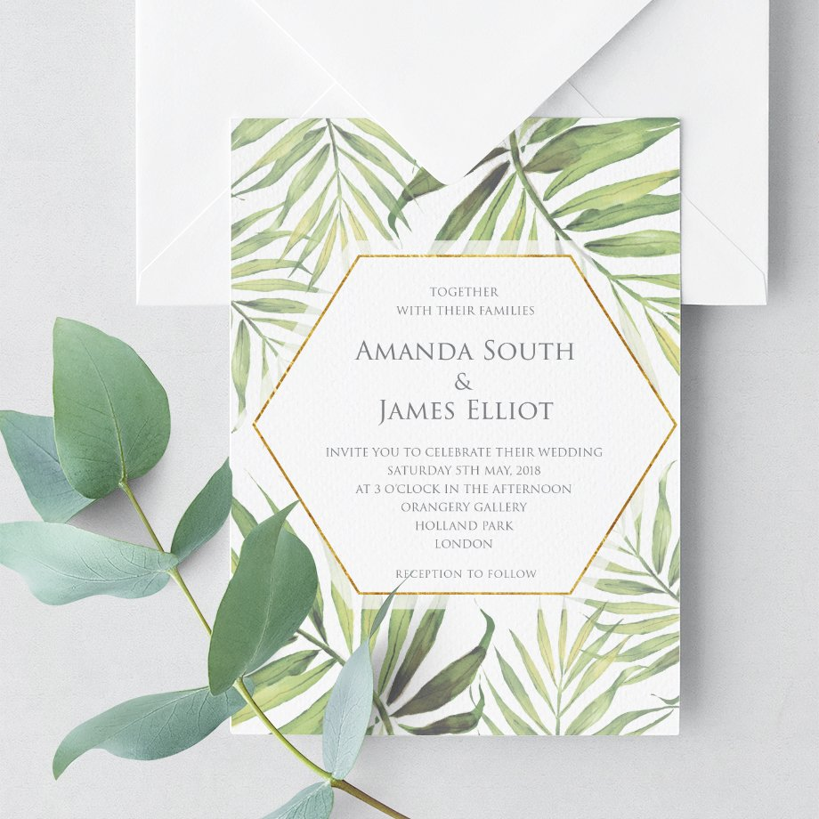 Wedding invitation by Flamboyant Invites Occasion Paperie