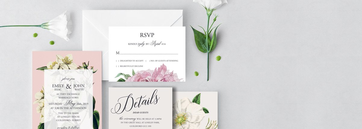 Flamboyant Invites Wedding Stationery