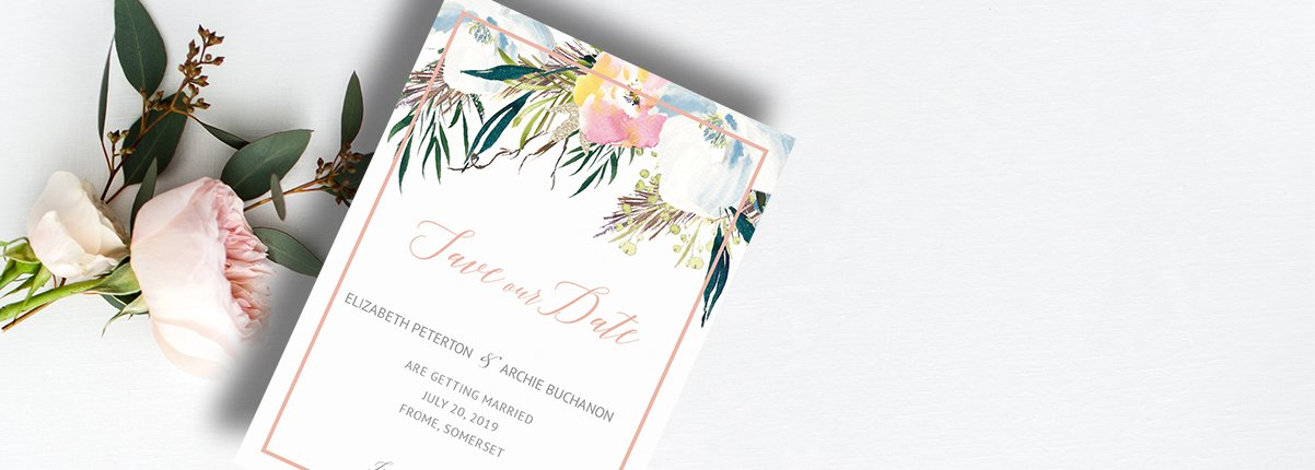 Flamboyant Invites save the dates stationary