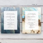 Coastal Beach Theme Wedding Invitation