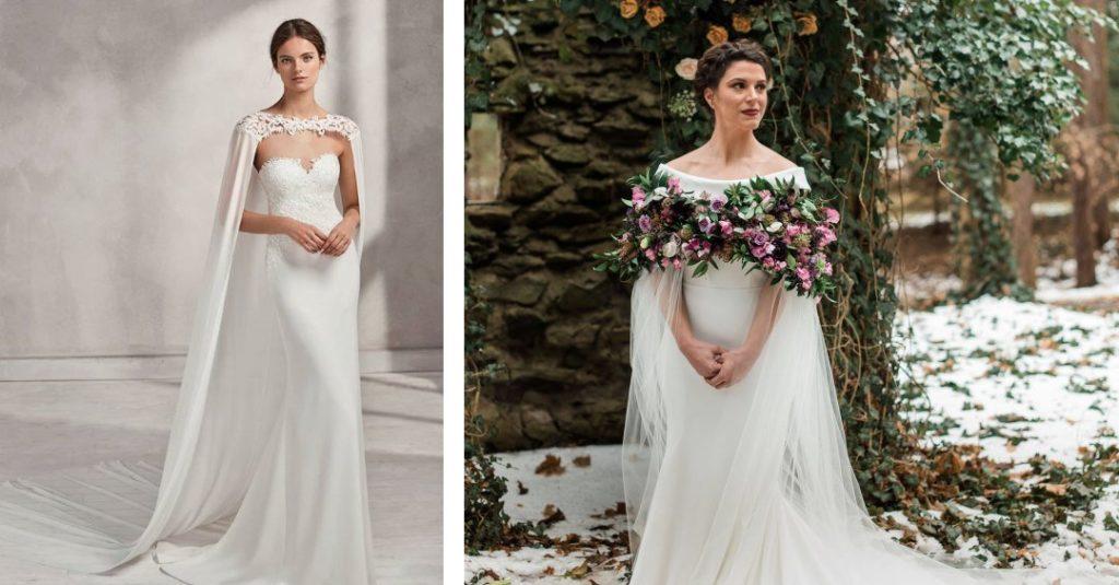 Dramatic Wedding Cape Trend