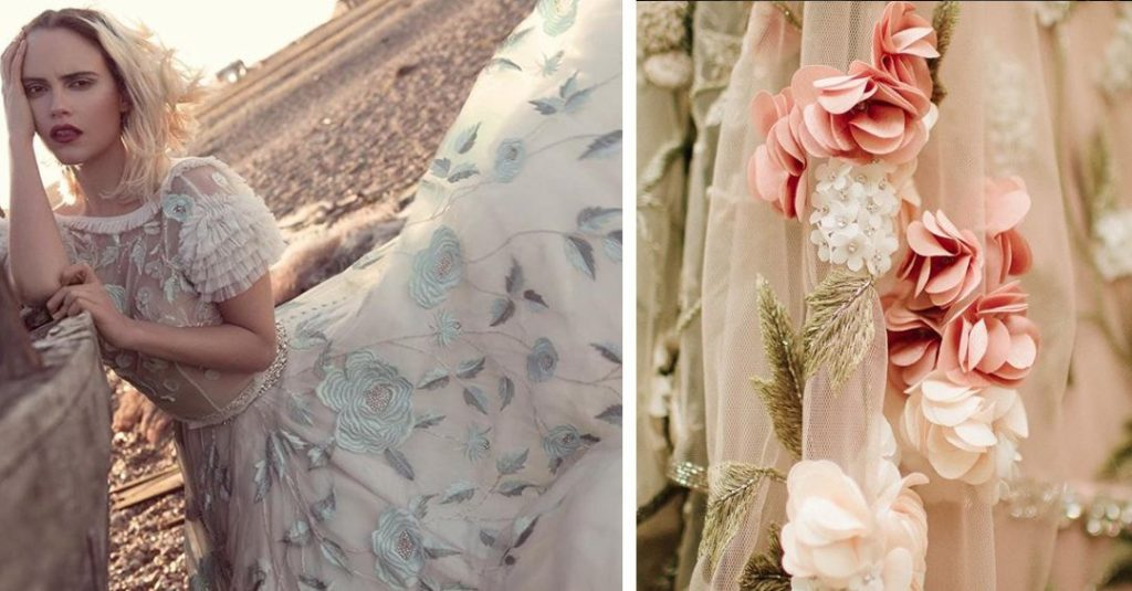 Embroidered Wedding Gown Trend