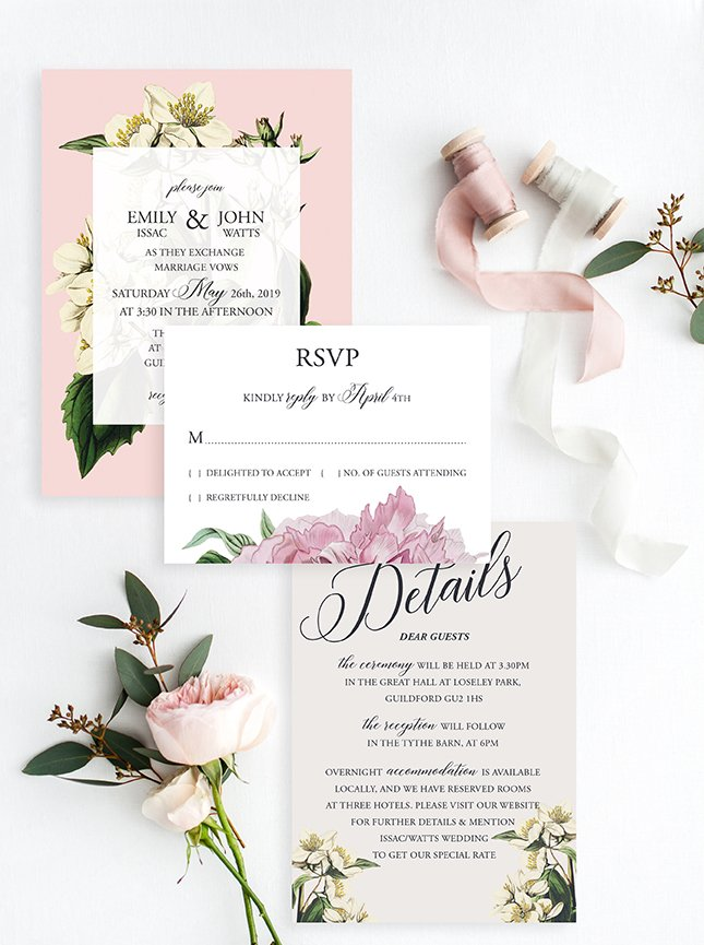 Surrey Wedding Stationery Design | Flamboyant Invites