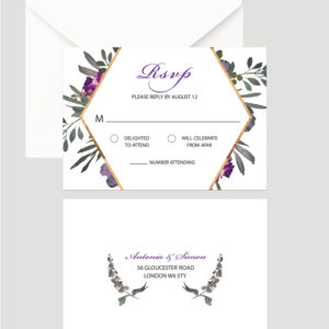 Muted Floral RSVP Card | Surrey Wedding Event Stationery Design