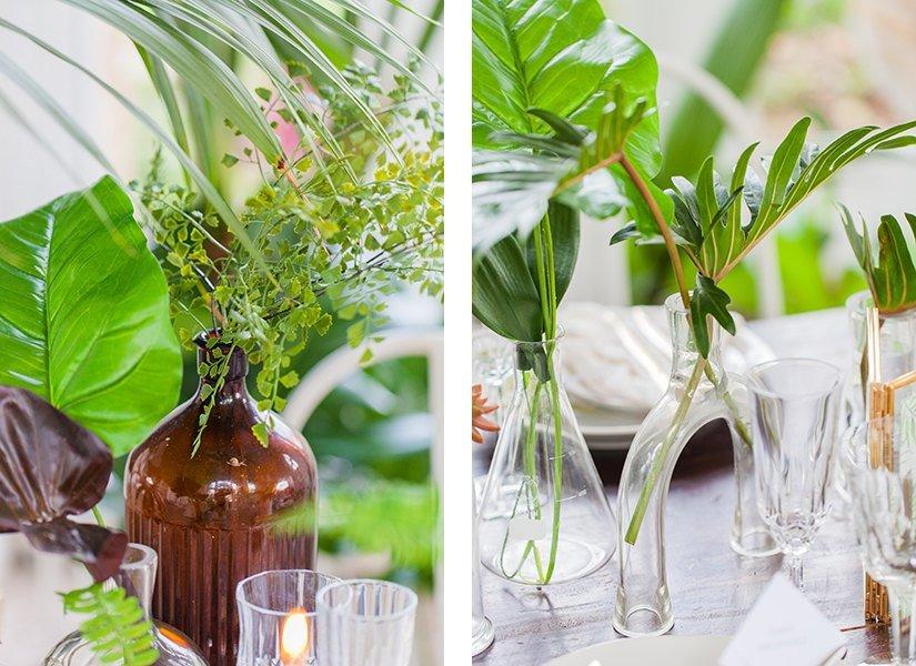 Tropical Foliage Wedding Styling