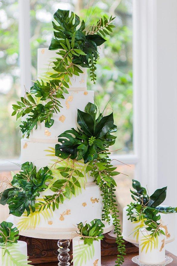 Tropical Theme Wedding Cake