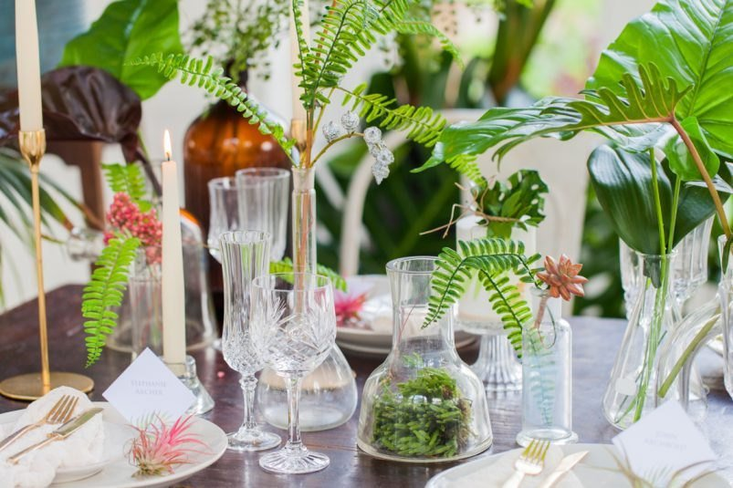 Tropical Theme Wedding Table Styling