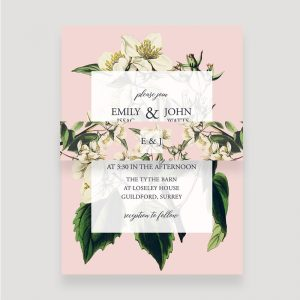 Botanical Invitation Belly Band | Surrey Wedding Event Stationery Design