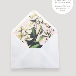 Botanical Invitation Envelope Liner | Surrey Wedding Event Stationery Design