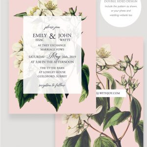 Botanical Wedding Invitation | Surrey Wedding Event Stationery Design
