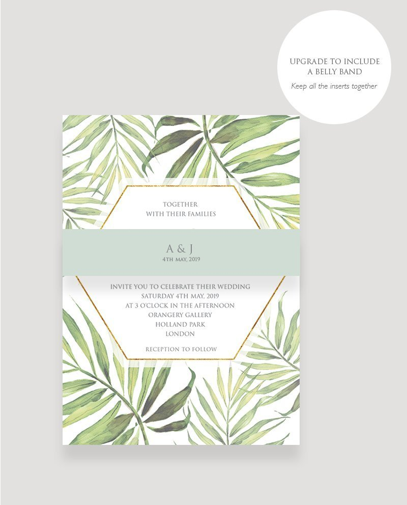 Coco Palm Wedding Invitation
