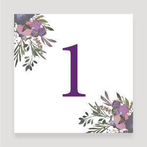 Muted Floral Table Number | Surrey Wedding Event Stationery Design