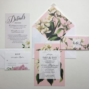 Botanical Wedding Invitation Sample | Surrey Wedding Event Stationery Design
