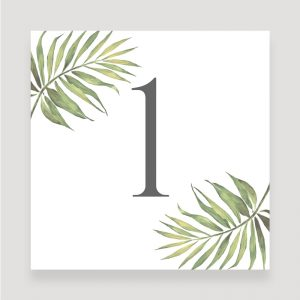 Coco Palm Wedding Table Menu | Surrey Wedding Event Stationery Design