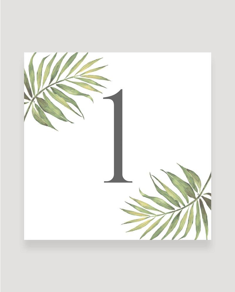 Coco Palm Wedding Table Menu | Surrey Wedding Event Stationery Design