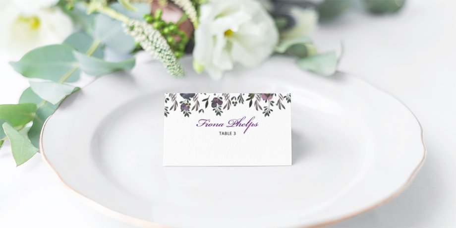 Wedding Place Card | Flamboyant Invites | Surrey Wedding Event Stationery Design