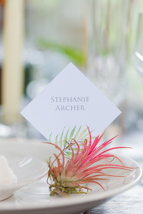 Palm Print Place Cards| Wedding Inspiration | Flamboyant Invites