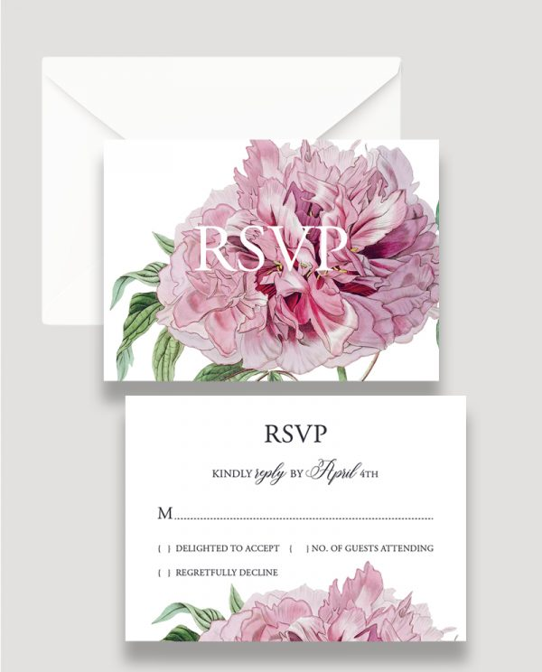 Botanical Save the Date, Floral Save the Date, Summer Wedding, Save the Date Invitation