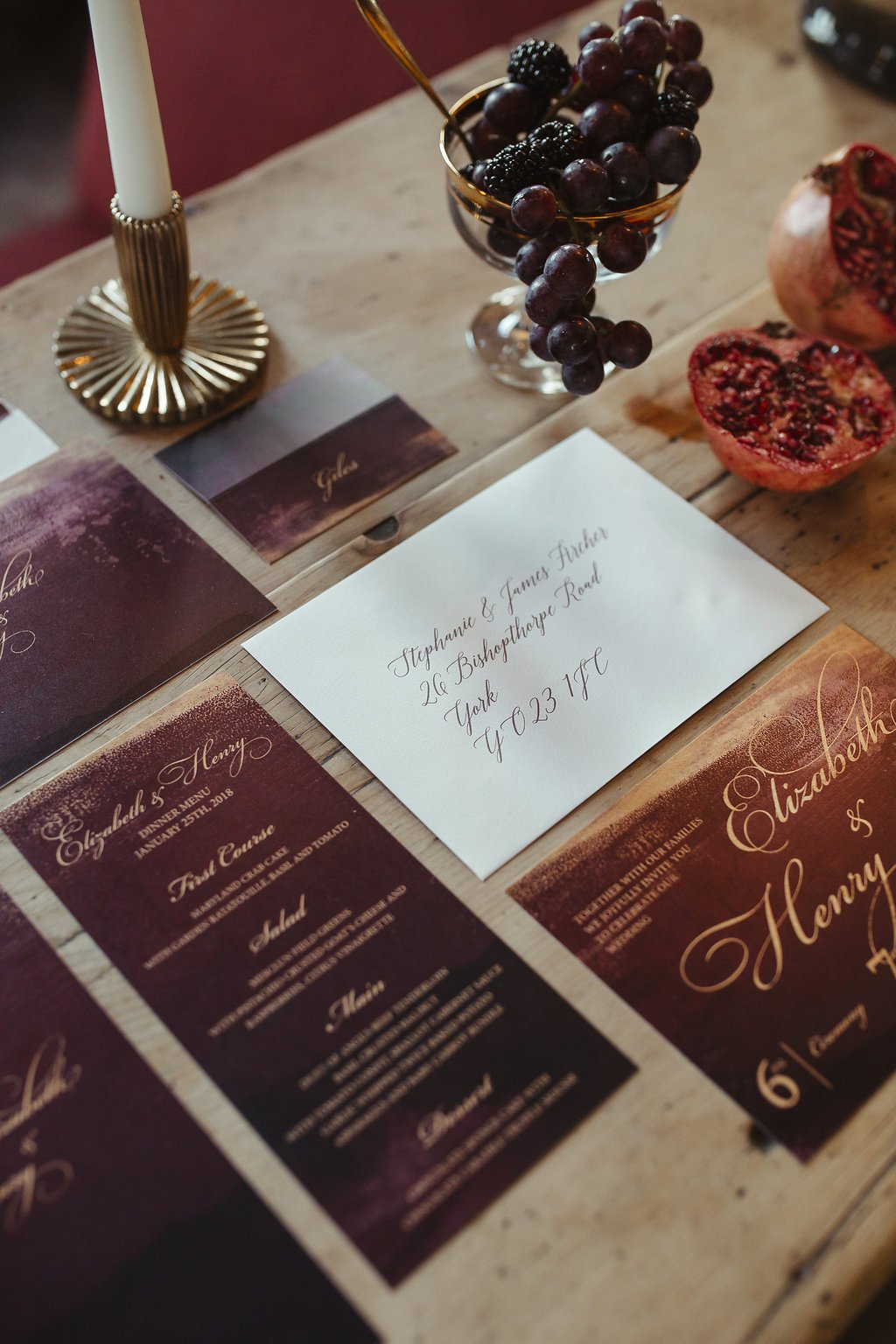 claret and gold, bespoke wedding stationery, regal wedding inspiration, regal bride and groom, modern wedding, elegant wedding, beautiful wedding, sumptuous wedding, luxe wedding, surrey wedding, sussex wedding, hampshire wedding, london wedding, wedding ideas, wedding inspiration