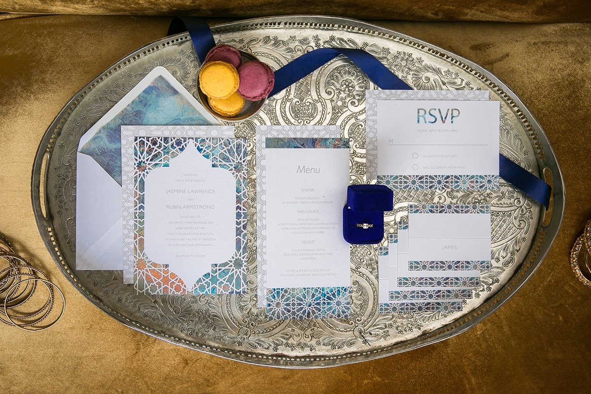 Bespoke Wedding Stationery for a Moroccan destination wedding