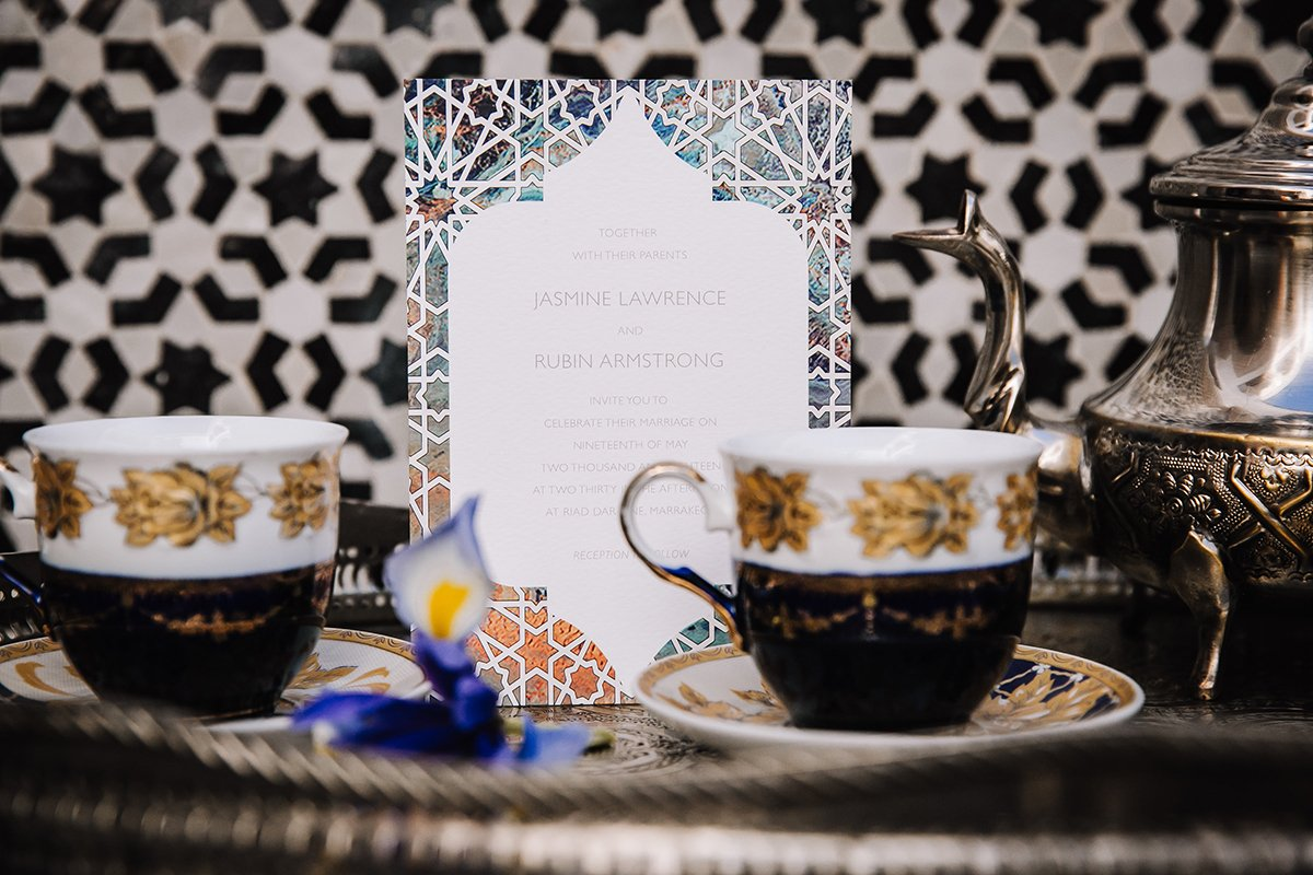 Bespoke Wedding Stationery with a Moroccan vibe