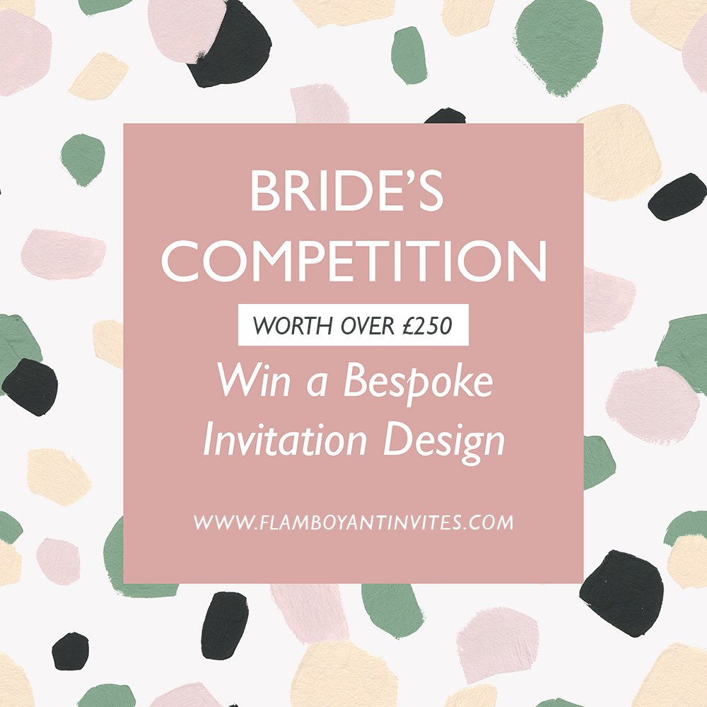 Wedding Stationery Competition, Win a Bespoke Wedding Invitation Suite Design by Flamboyant Invites
