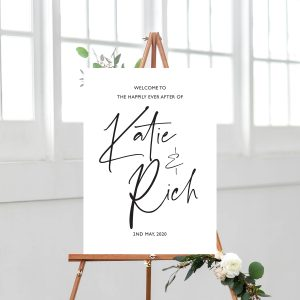 XOXO Wedding Sign, Welcome Sign, Modern Calligraphy | wedding stationery Surrey, Flamboyant Invites