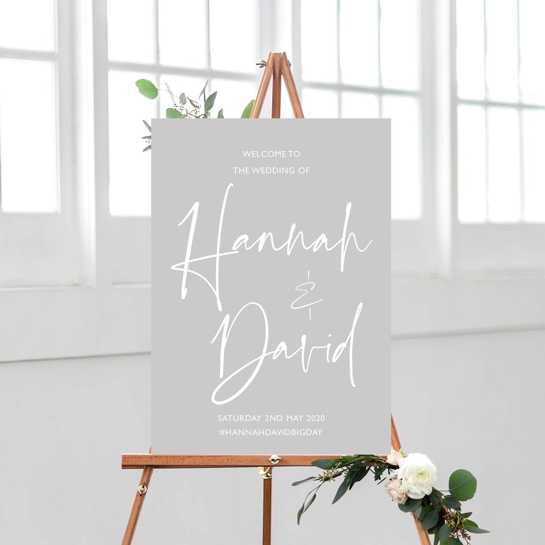 XOXO Wedding Sign, Modern Calligraphy Wedding Sign, Grey and White, Modern Calligraphy Welcome Sign, Wedding Welcome Signs, wedding signage, wedding stationery Surrey