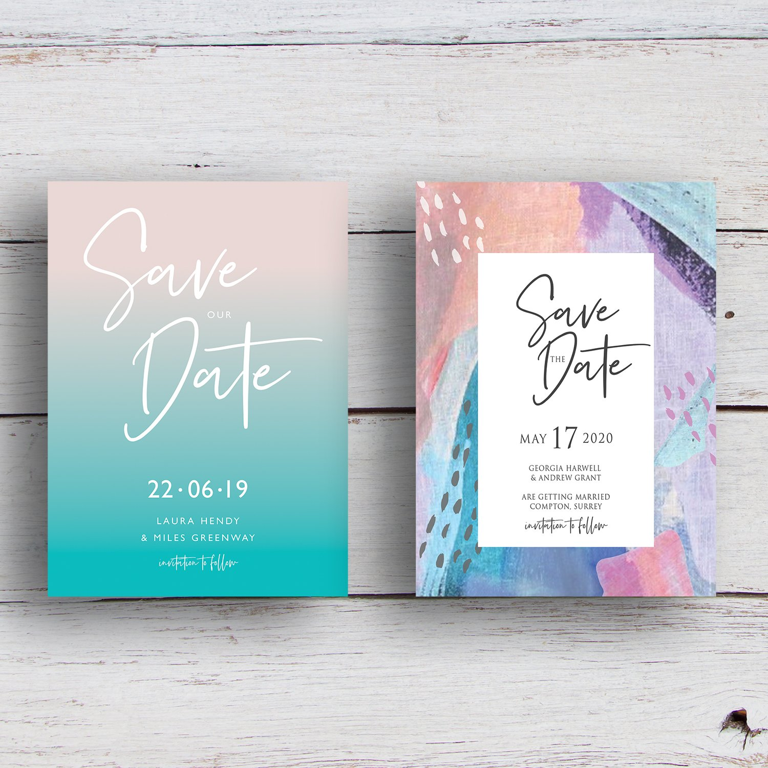 Wedding Save the Date Cards, Save the Dates | wedding stationery Surrey, Flamboyant Invites