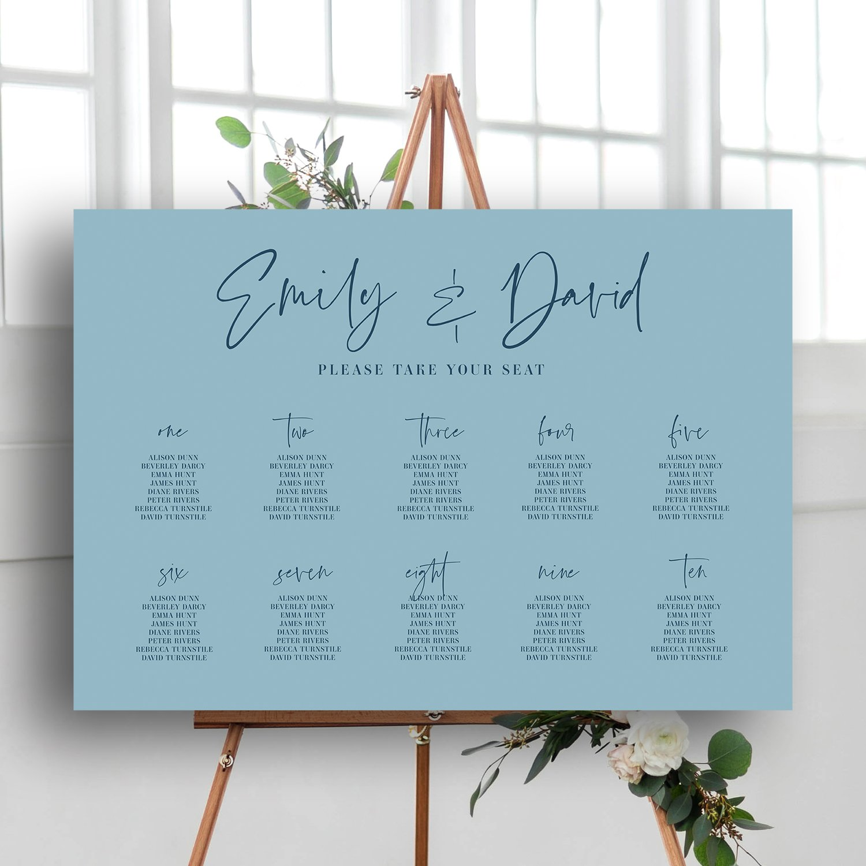 XOXO Wedding Sign, Modern Calligraphy Wedding Sign, Grey and White, Modern Calligraphy Table Plan, Wedding Table Plan, wedding signage, wedding stationery Surrey