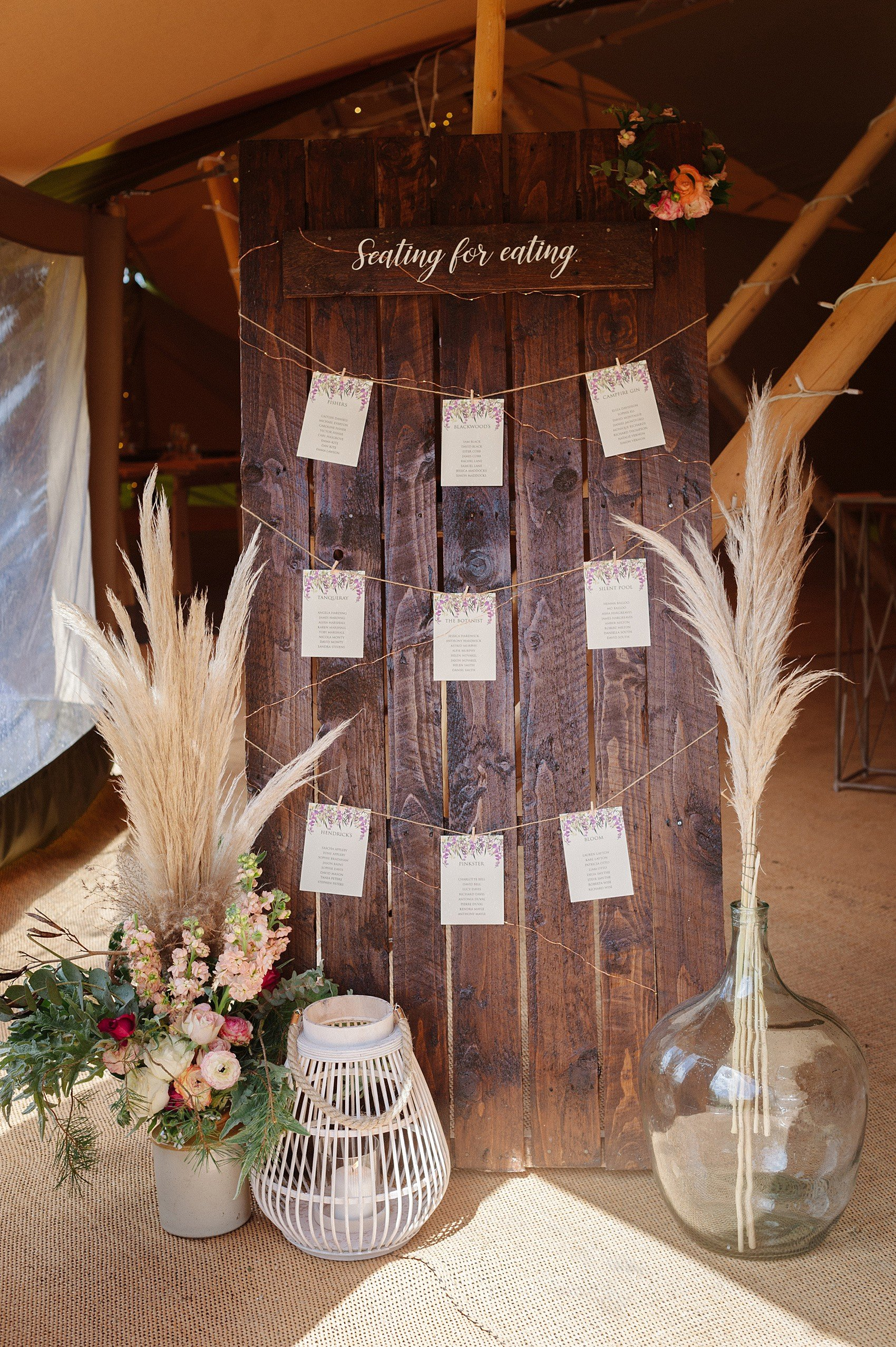Boho Tipi Wedding Table Plan | Flamboyant Invites