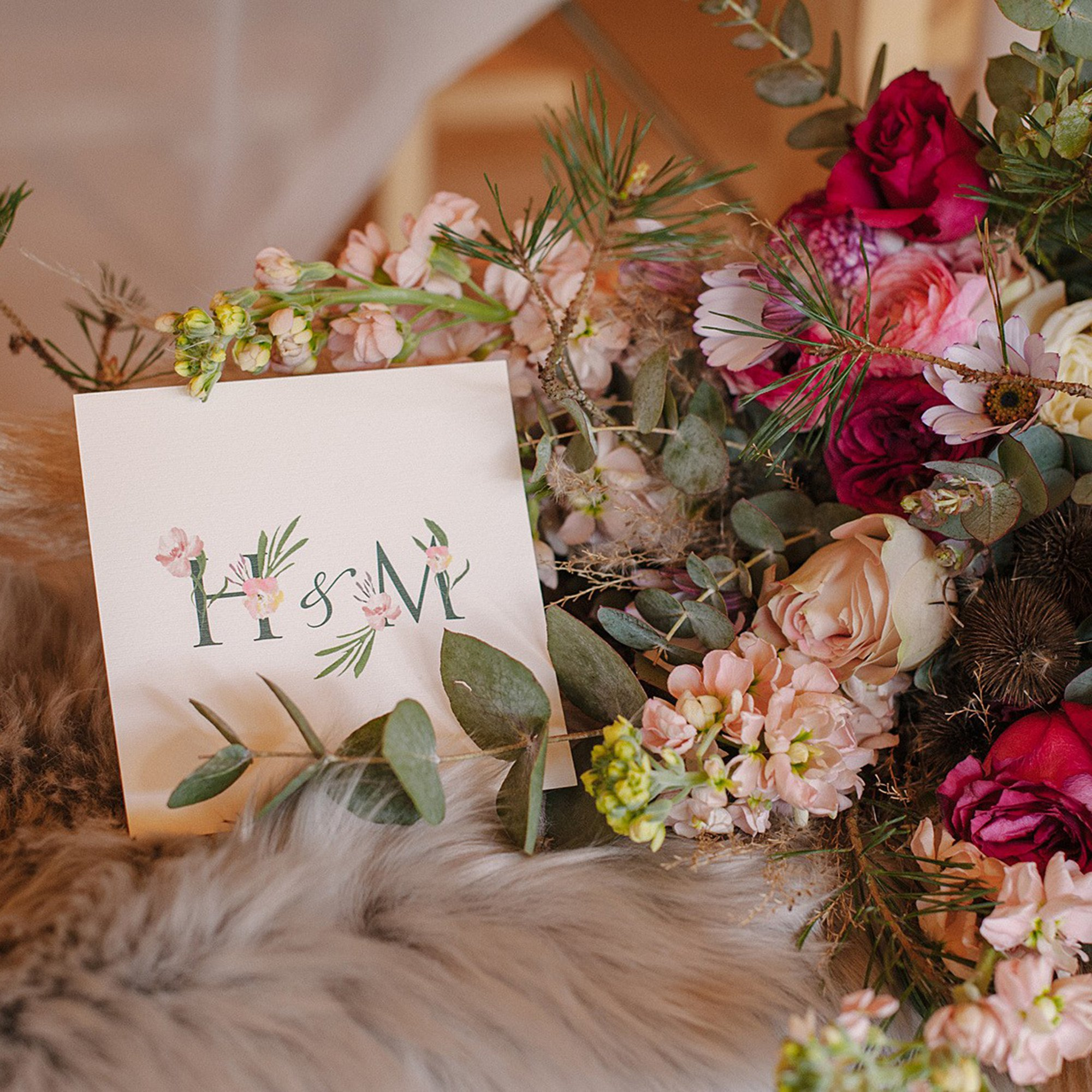 Boho Wedding Invitation | Flamboyant Invites