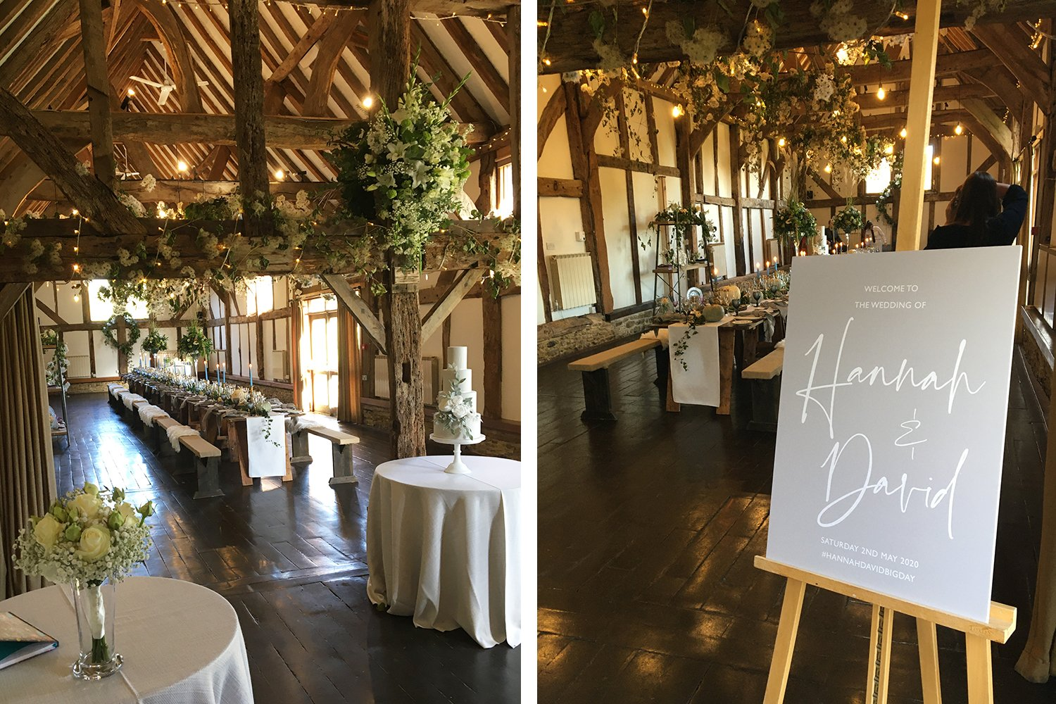 Wedding Signage by Flamboyant Invites, Loseley Park Supplier