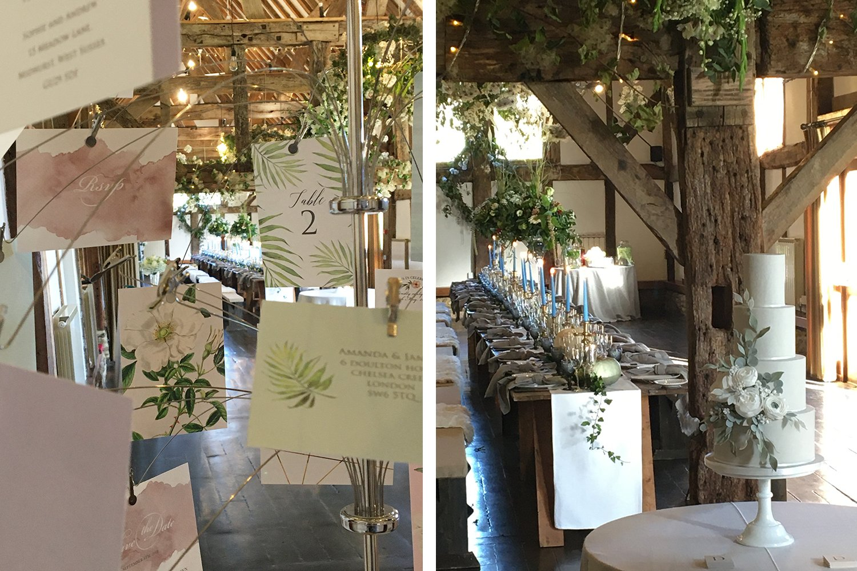 Flamboyant Invites Wedding Stationery at Loseley Park
