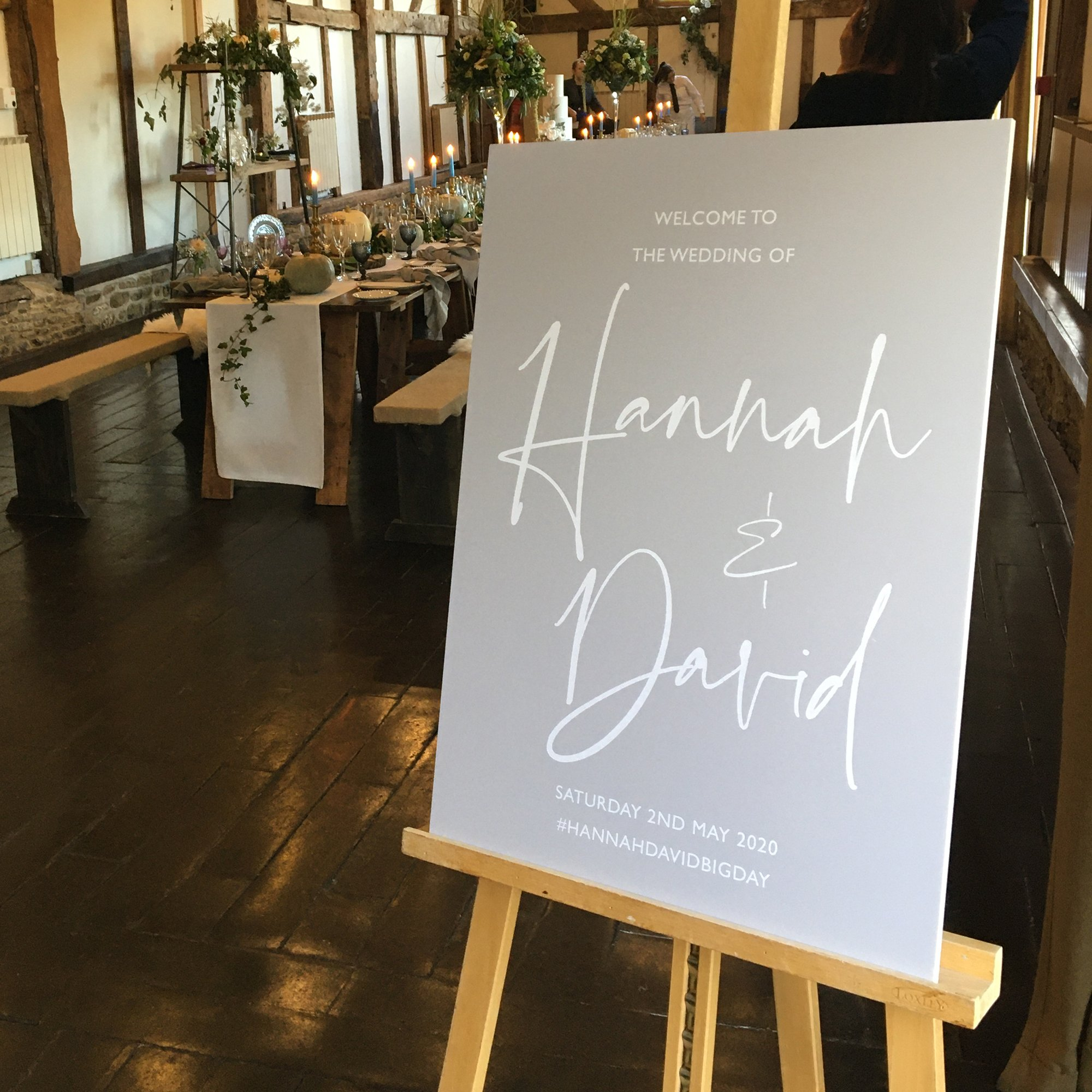 Wedding Welcome Sign by Flamboyant Invites | Loseley Park Supplier