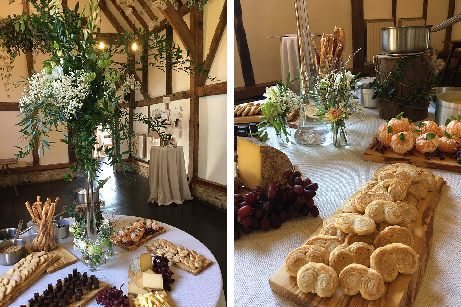 Tasting Table. Losley Park Wedding Open Day