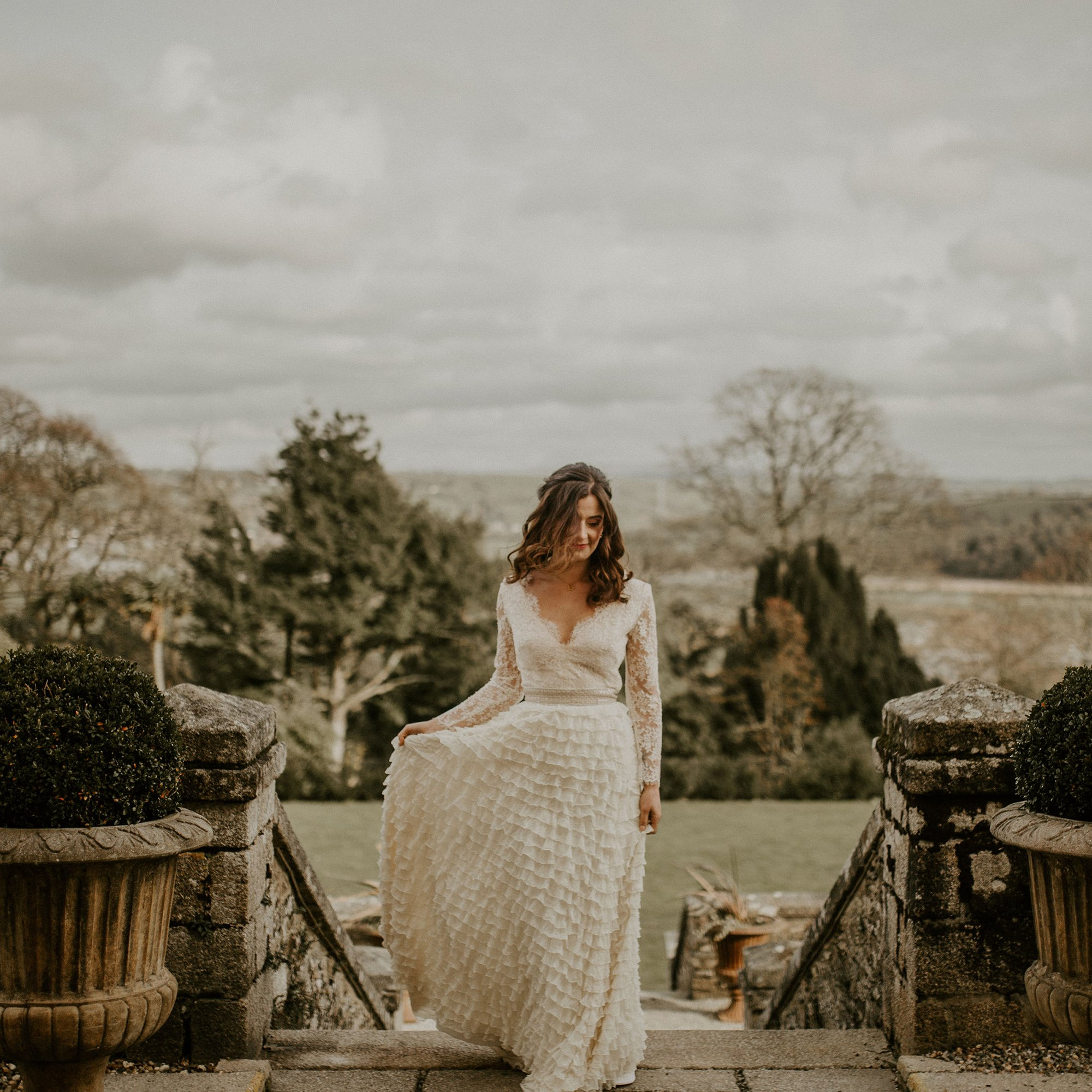 Winter Wedding Inspiration at Pentillie Castle, | Flamboyant Invites