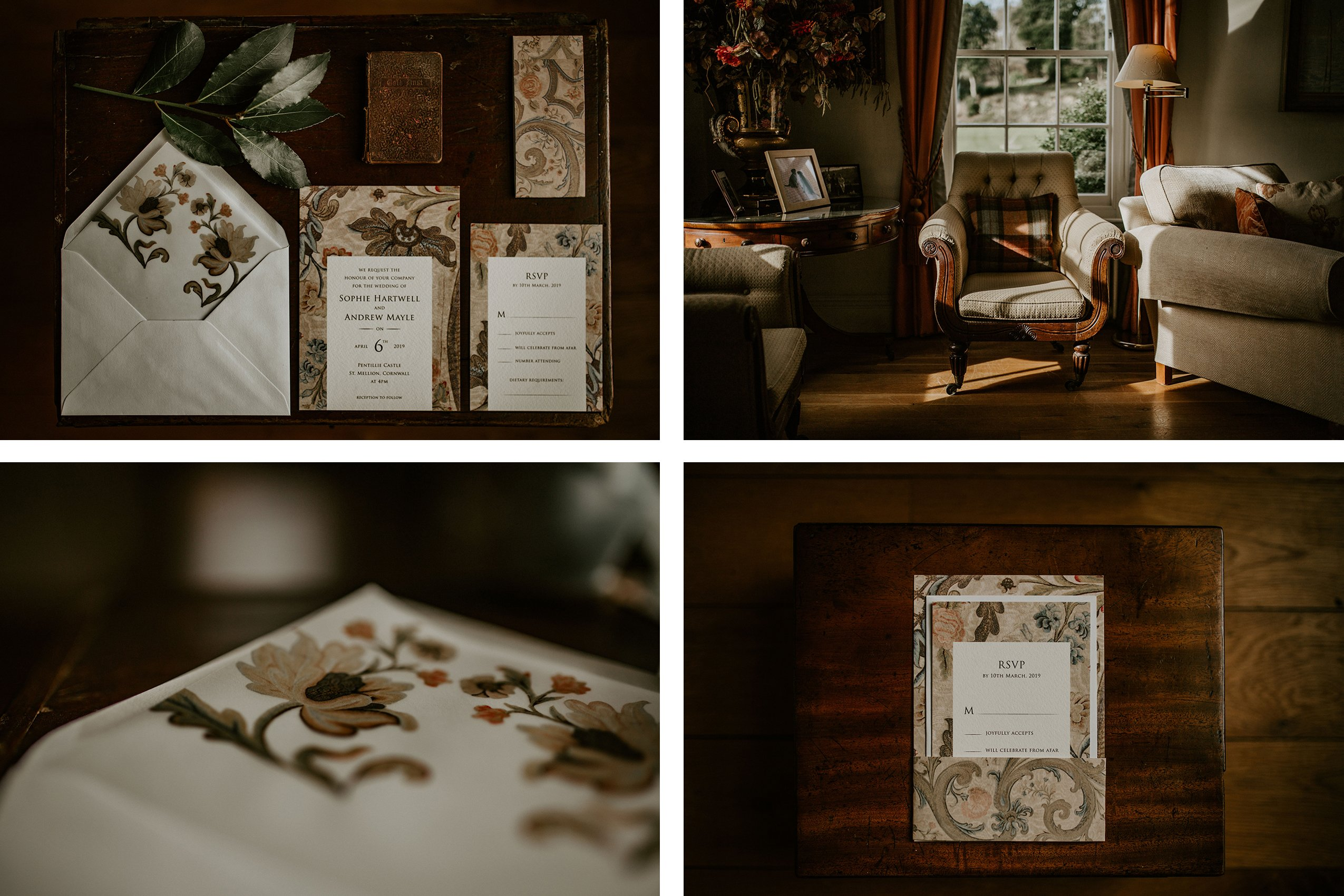 Winter Wedding Inspiration at Pentillie Castle, | Flamboyant Invites