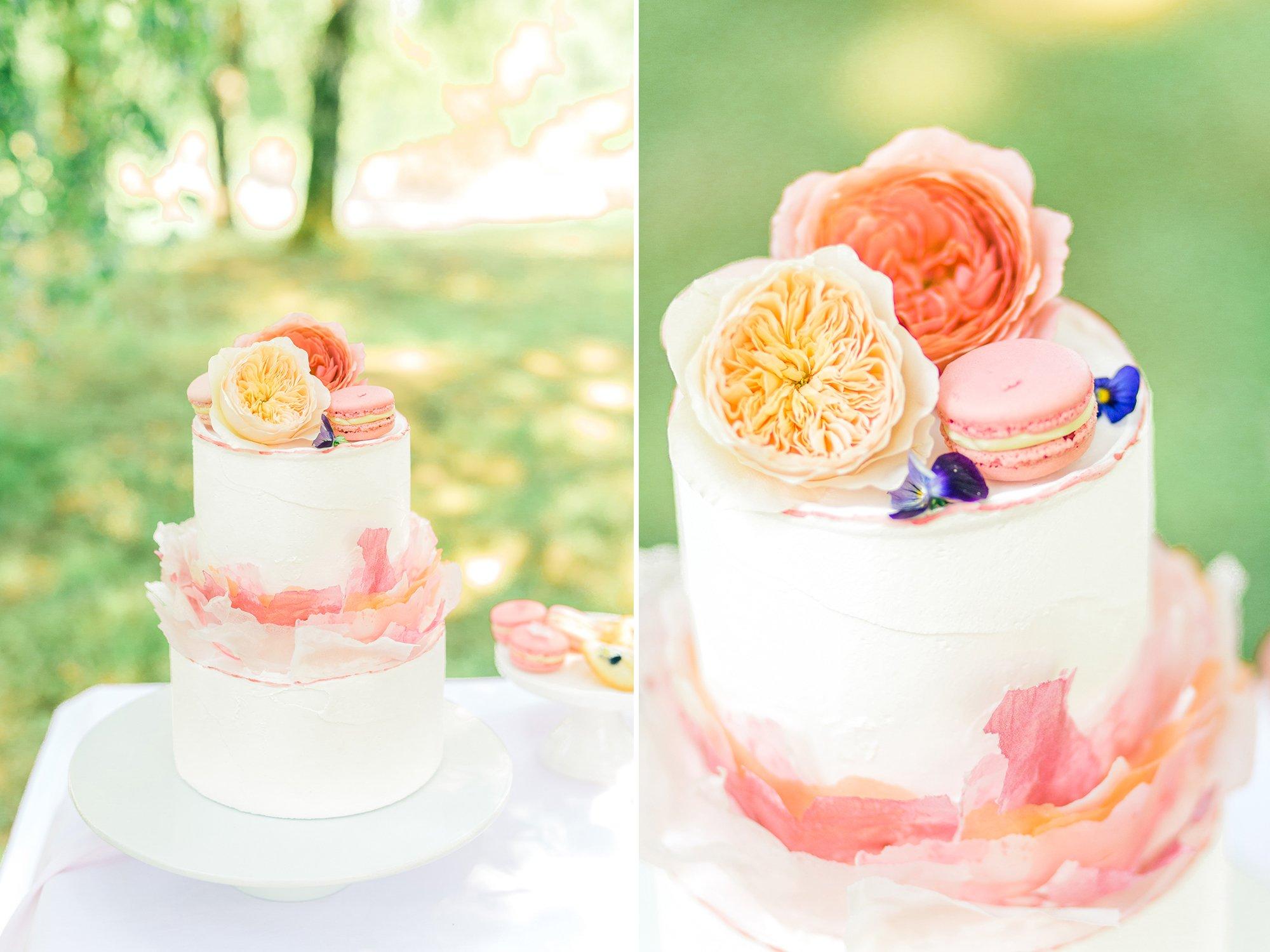 Summer Wedding Cake Inspiration   Flamboyant Invites