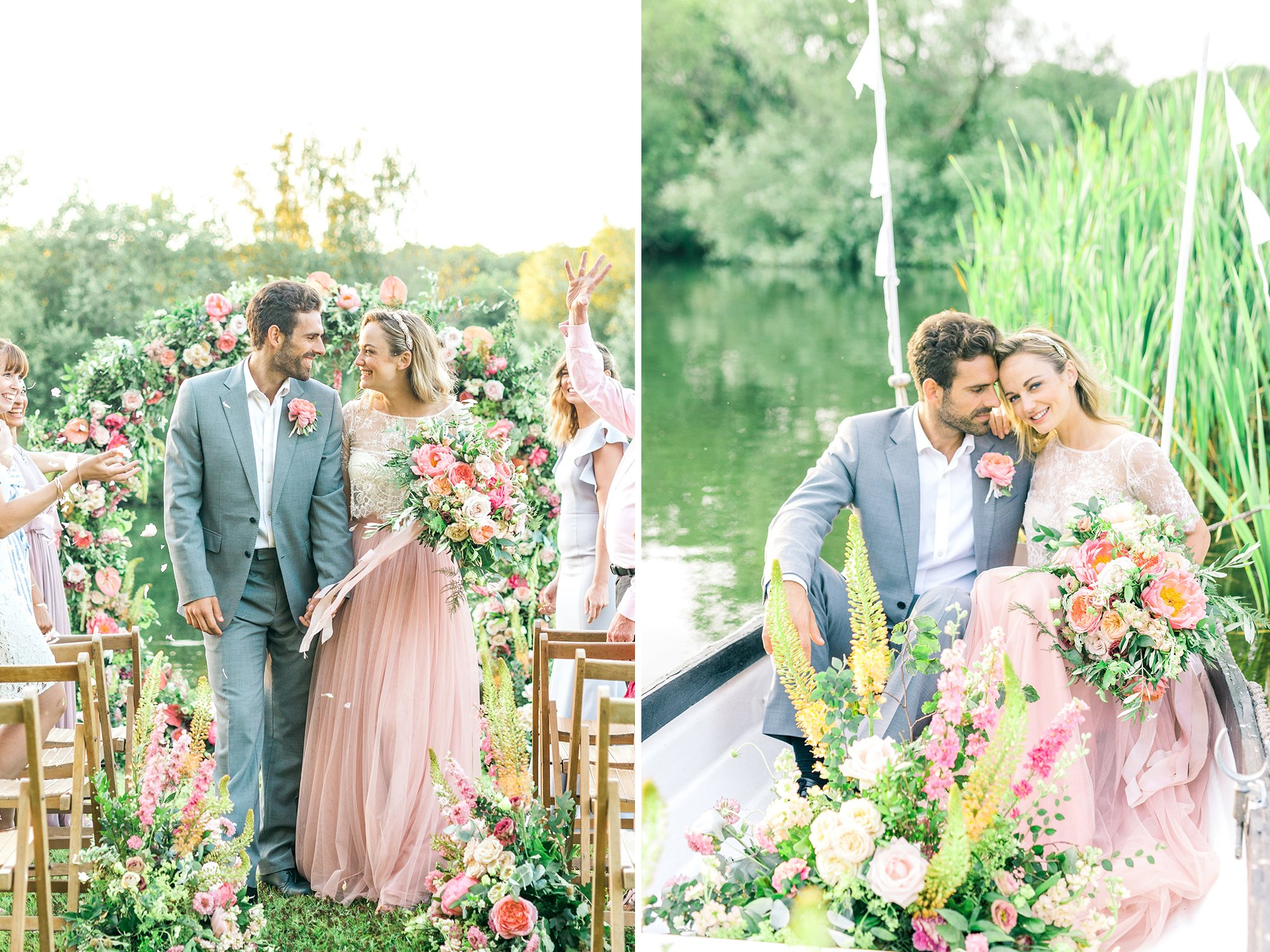 Lakeside Summer Wedding Inspiration   Flamboyant Invites
