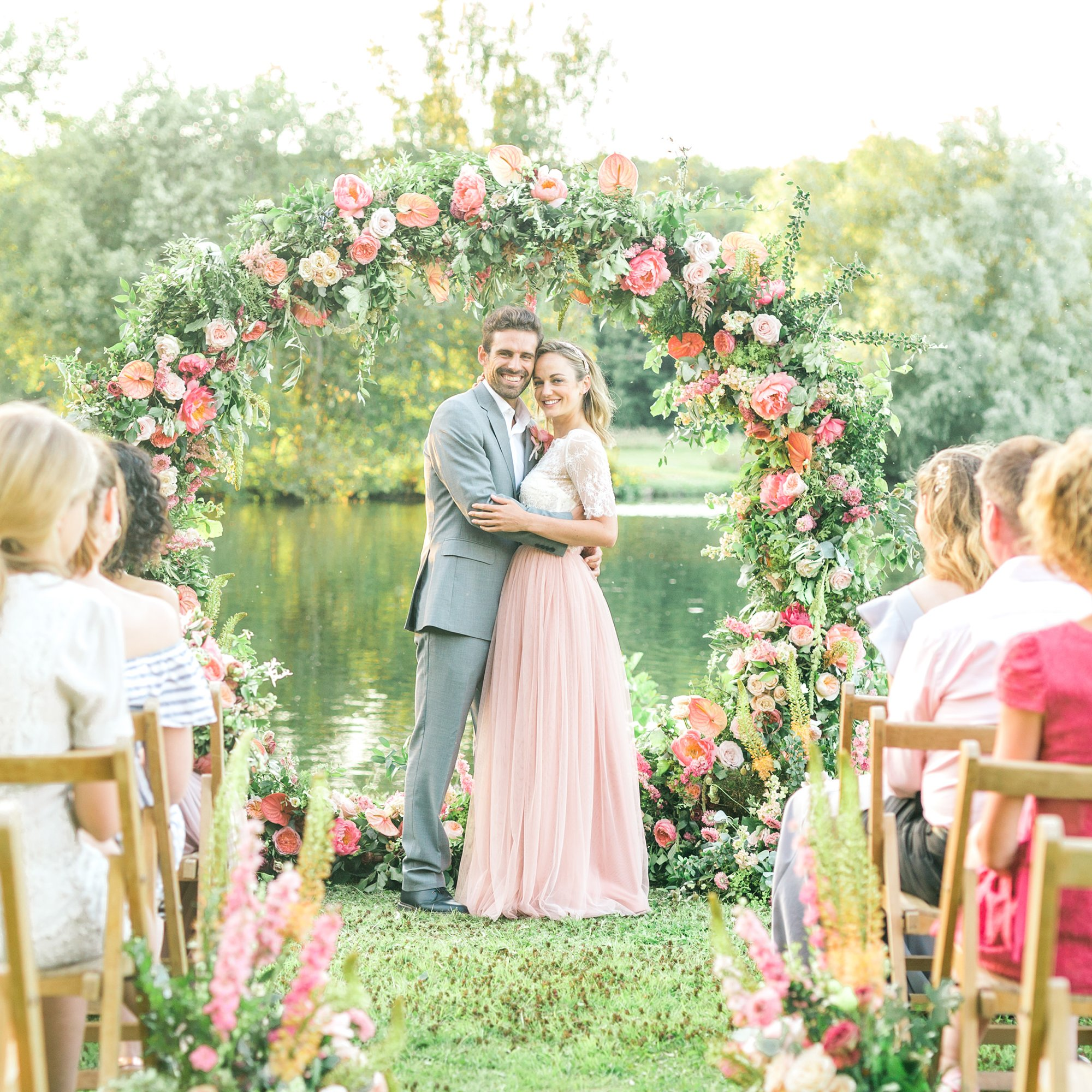 Summer Wedding Inspiration Floral Moongate | Flamboyant Invites