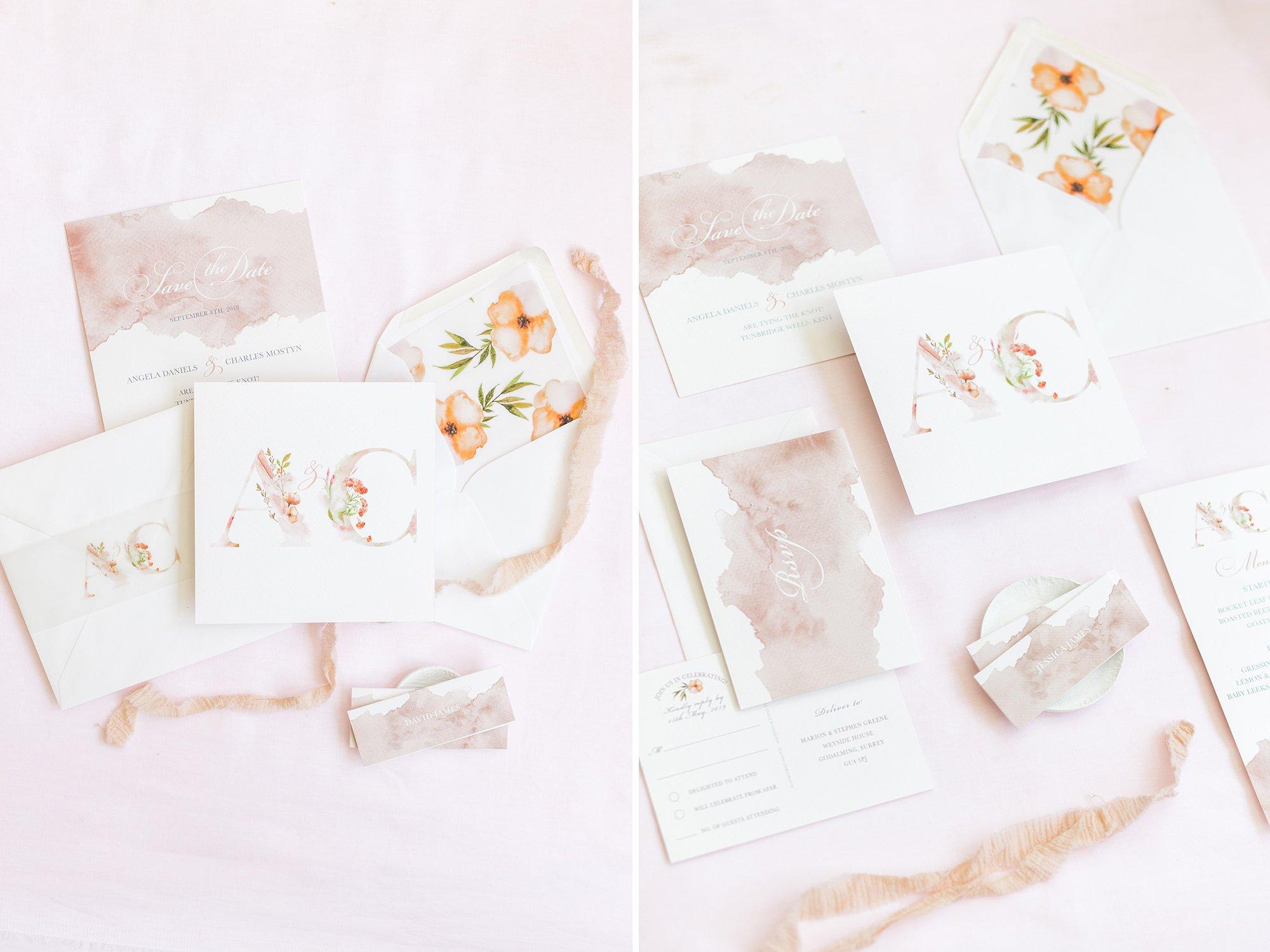 Summer Wedding Stationery Inspiration, Flamboyant Invites