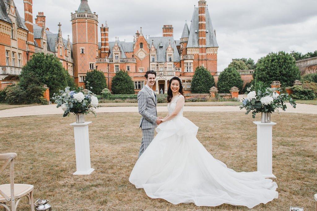 Blue and Blush Bridal Ideas, Flamboyant Invites