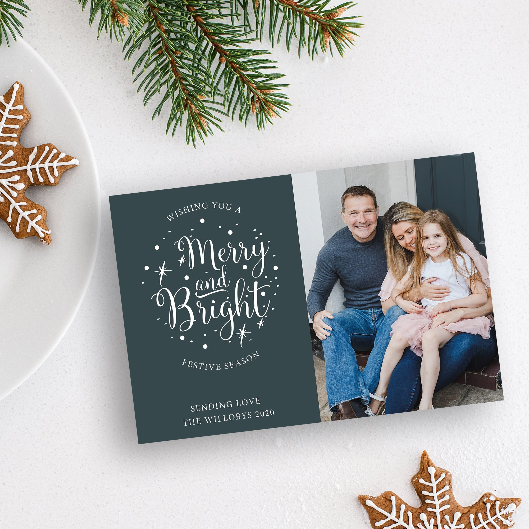 Doorstep Photo Christmas Cards by Flamboyant Invites