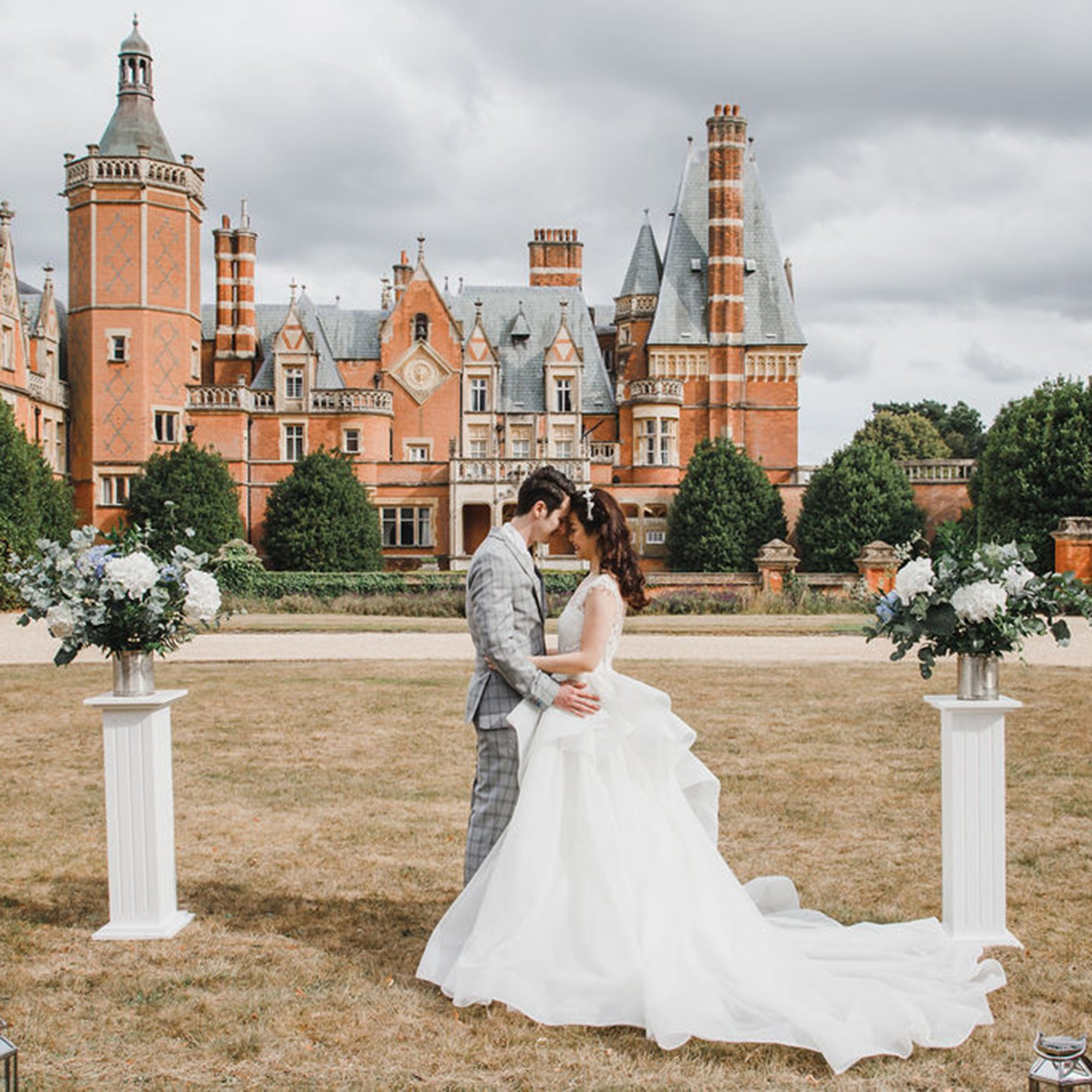 Blue and Blush Wedding Inspiration, Flamboyant Invites