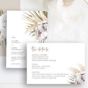 Micro Wedding Collection - Boho Palm Stationery Set | Flamboyant Invites
