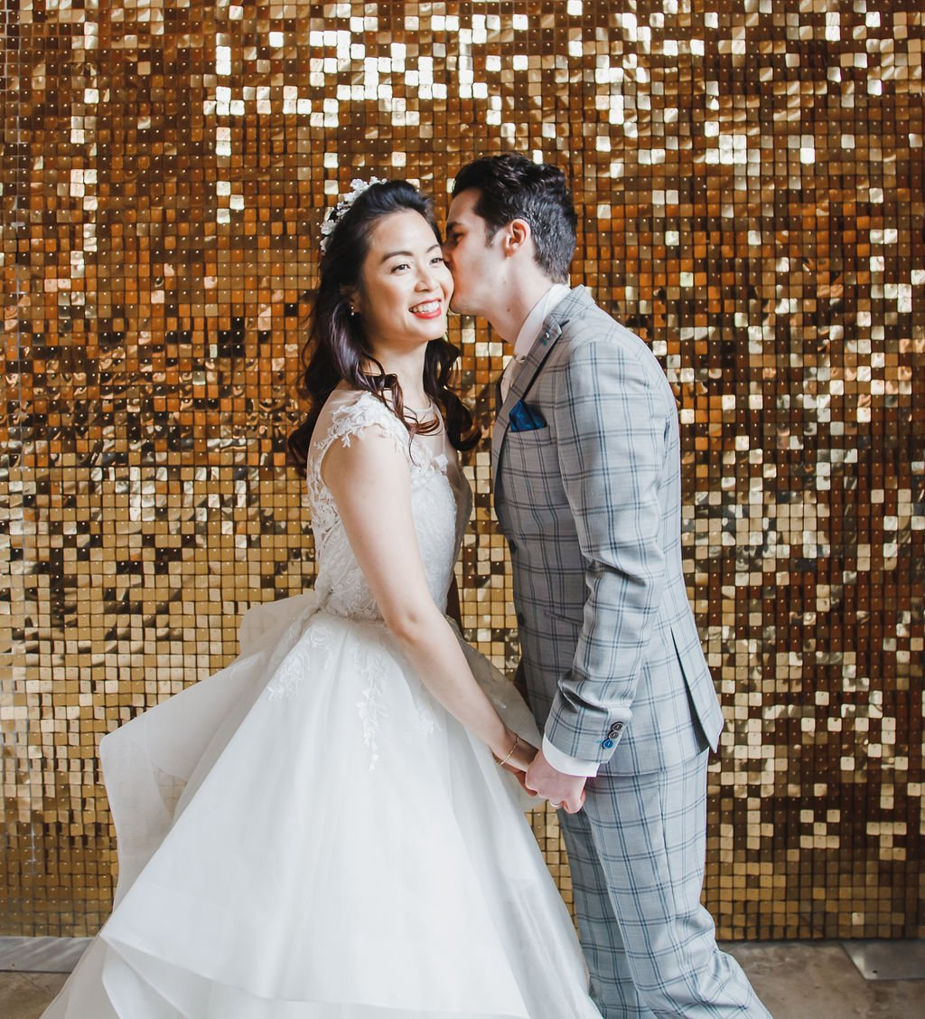 Wedding Sequin Wall Inspiration, Flamboyant Invites