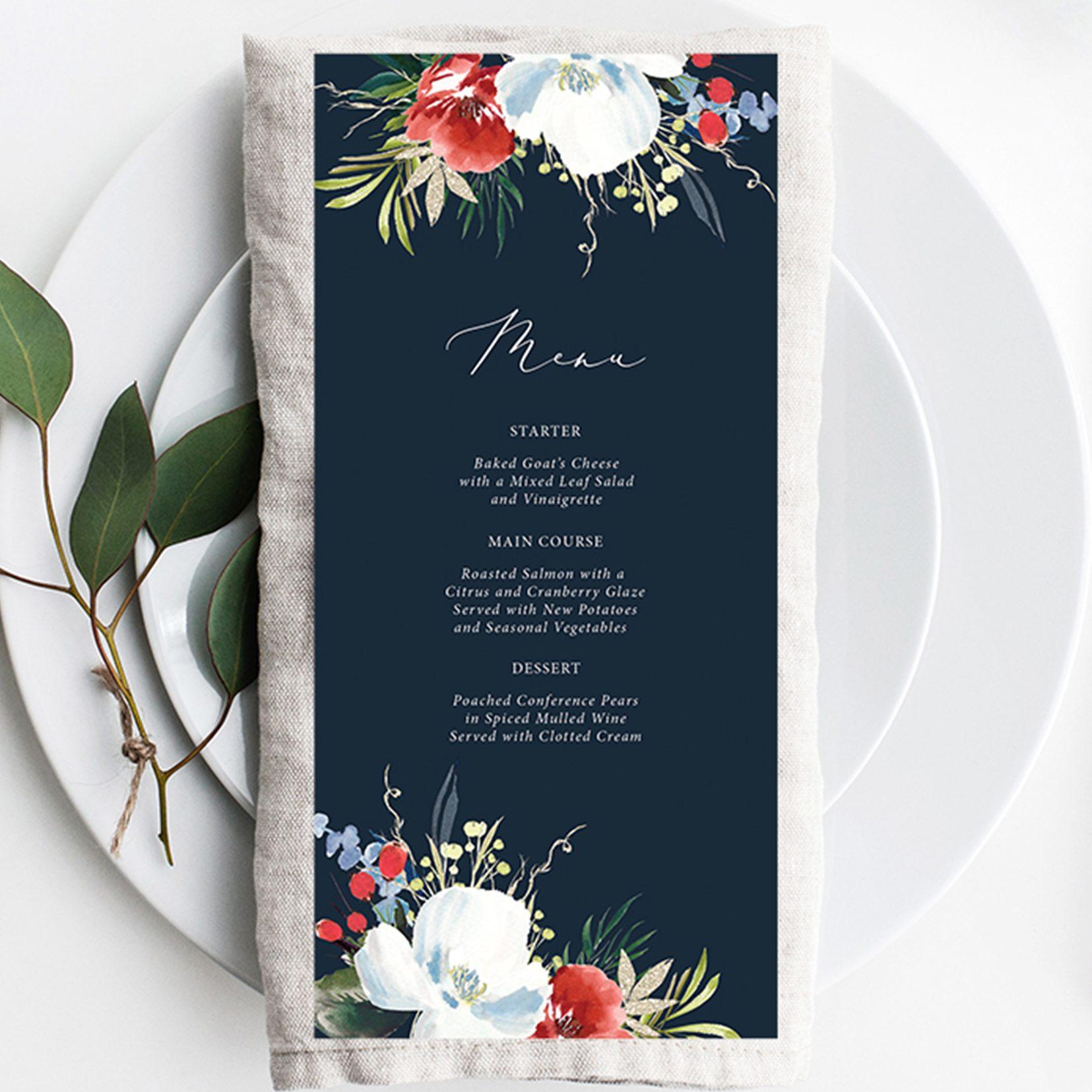 Christmas Wedding Stationery Ideas   Flamboyant Invites