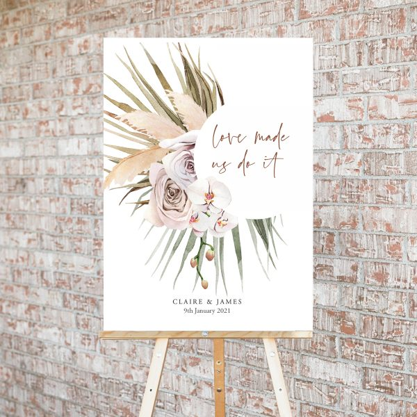 Boho Palm Welcome Sign | Flamboyant Invites