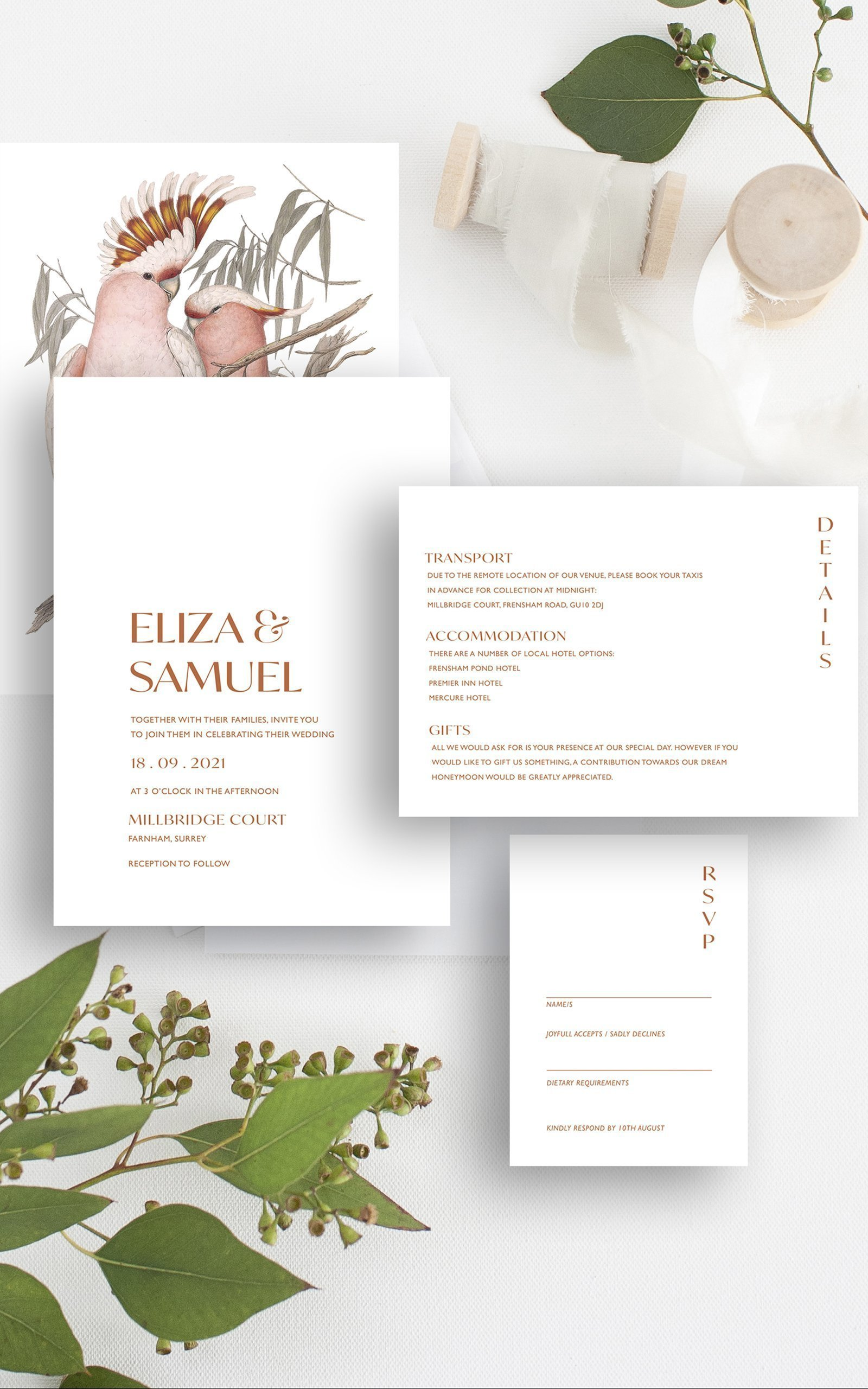 Botanical Wedding Invitation Suite | Flamboyant Invites